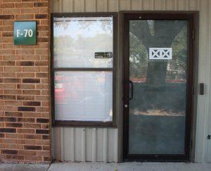 Door from the parking lot