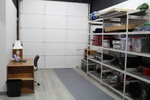 Storage, office, and staging