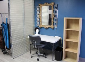 vanity and dressing space